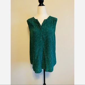 Joie 100% Silk Opalina Tank blouse Green small